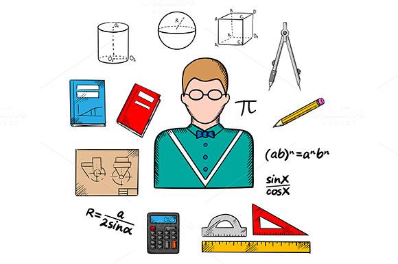 Mathematician Profession Icons