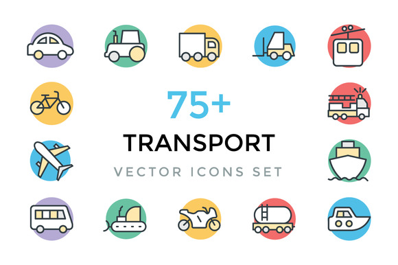 75 Transport Vector Icons