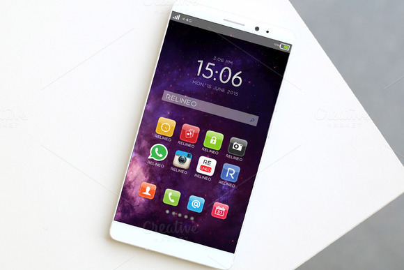 Android Phone Display Mock-up 3