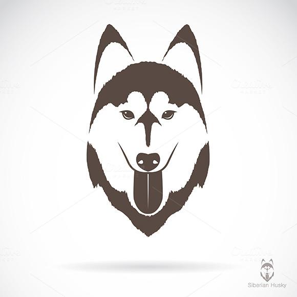 Vector Image Of A Dog Siberian Husky