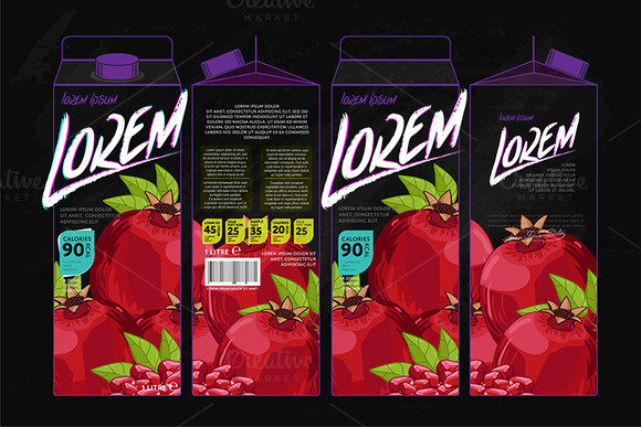 Packaging Design Pomegranate Juice