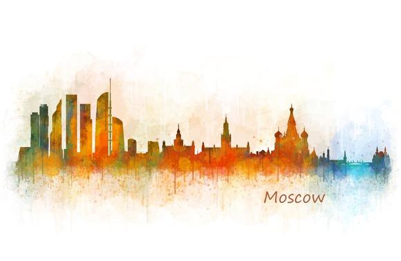 Moscow Cityscape Skyline