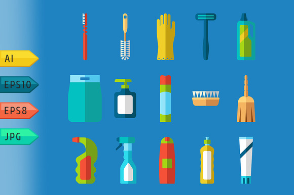 Cleaning Products Icons