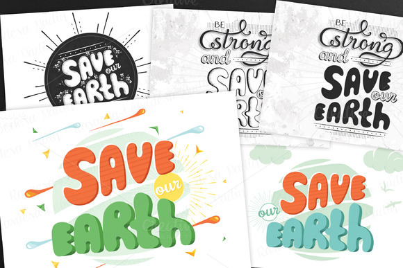 SET / 5 / Save our Earth. Planet day - Illustrations