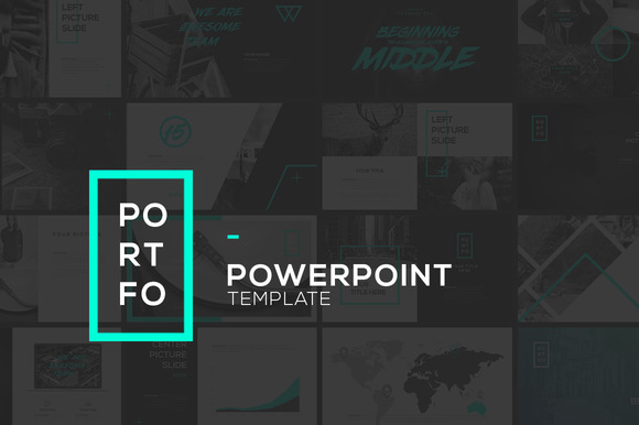 Portfo powerpoint template presentation templates on for Steve jobs powerpoint template