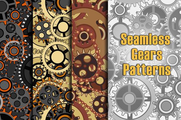 Seamless Gears Patterns