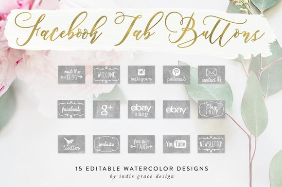 Gray Watercolor Facebook App Images