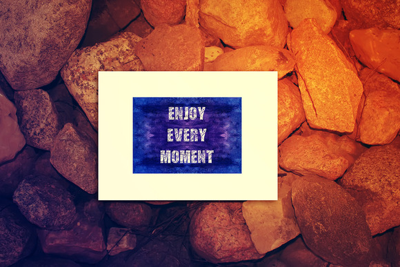 Enjoy Every Moment. Decorative card. - Illustrations
