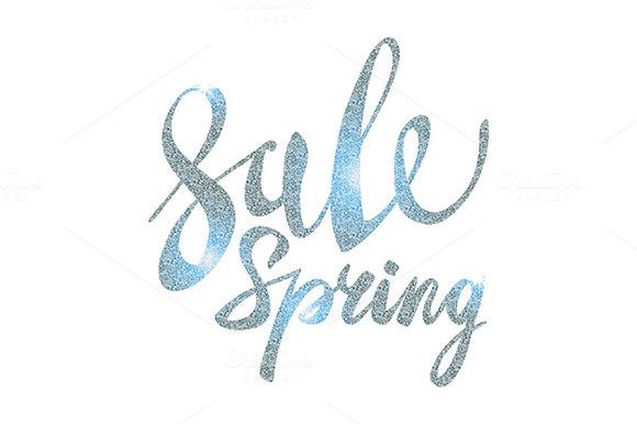 Spring Sale. silver vector glamor - Graphics