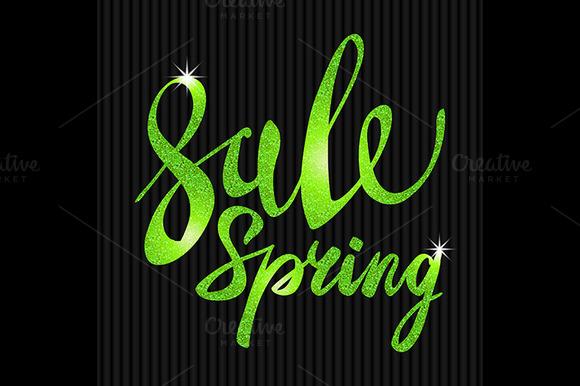 Spring Sale. Green glamor, light - Graphics