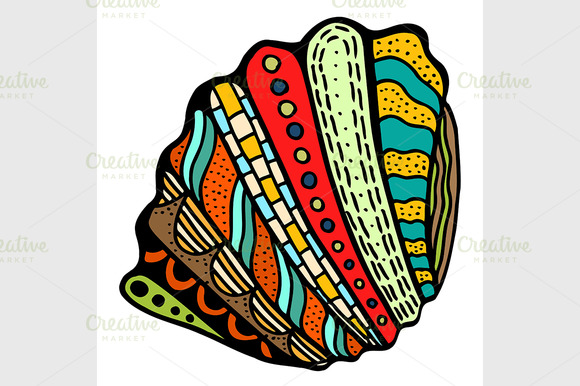 Seashell. Vector illustration.  - Graphics