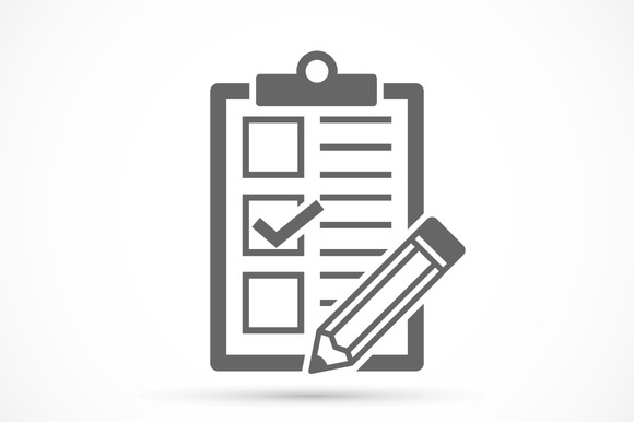 Checklist With Tick And Pencil
