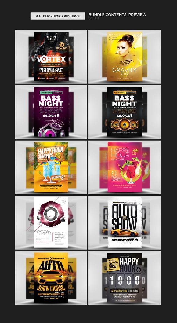 99 Nightclub Flyer Templates Bundle Rar
