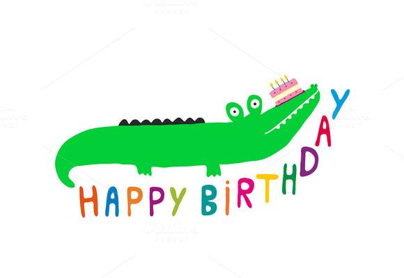 Happy Birthday Crocodile