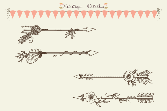 Hand Drawn Vector Arrows. Line Art - Objects