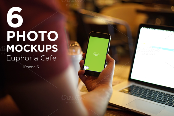 IPhone 6 Cafe Mockup Photos
