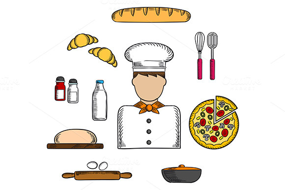 Baker Profession Icons