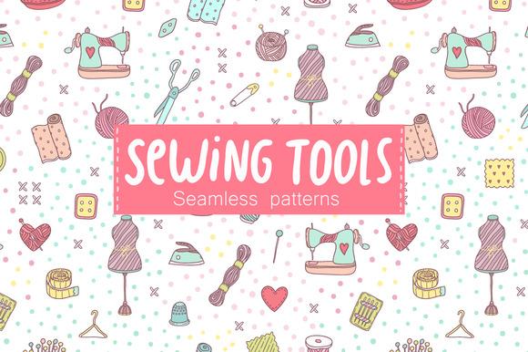 Sewing tools. Seamless pattern. - Patterns