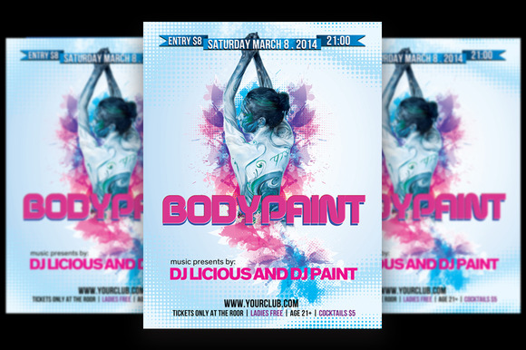Bodypaint Ladies Party - Flyers