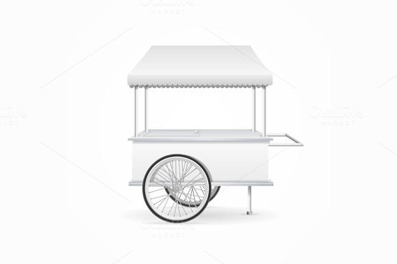Market Cart Template. Vector - Objects