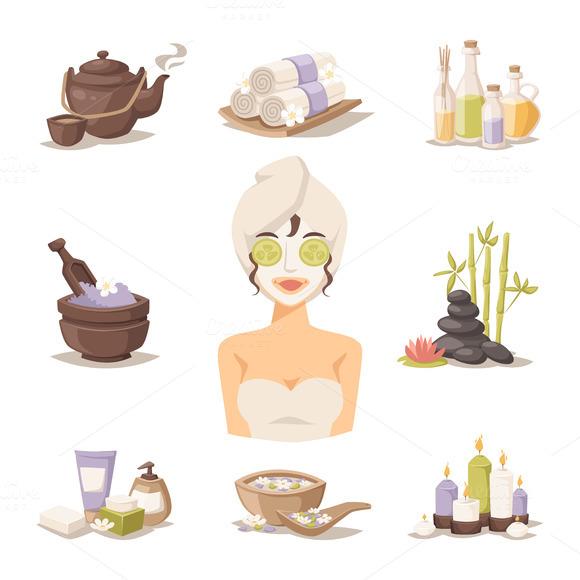 Spa Beauty And Body Care Vector V.2