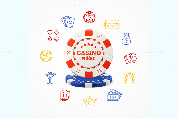 Casino Concept. Vector - Illustrations
