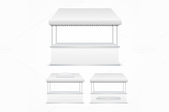 Market Stall Template. Vector - Objects