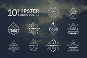 10 Hipster Logos Vol. 13-Graphicriver中文最全的素材分享平台