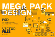 Web Banners Mega Pack-Graphicriver中文最全的素材分享平台