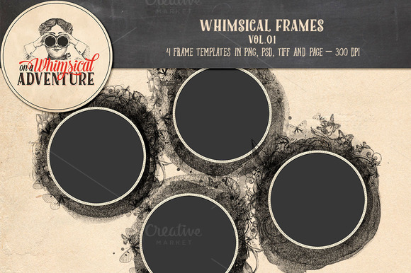 Templates - Whimsical Frames Vol.01 - Textures