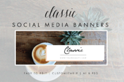 Social Media Banners - Clas-Graphicriver中文最全的素材分享平台