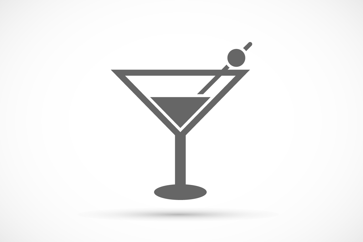 Cocktail glass icon ~ Icons on Creative Market