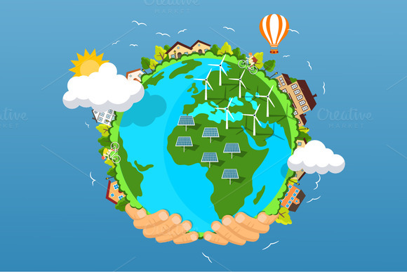 Earth day concept. Flat illustration - Illustrations