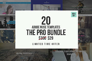The Pro Adobe Muse Bundle-Graphicriver中文最全的素材分享平台