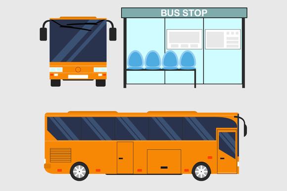 Tourist bus. Journey by bus. - Illustrations