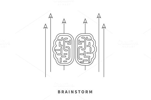 Brainstorm Design Flat Concept