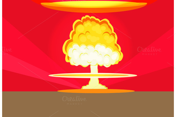 Bomb Nuclear Explosion Design Flat