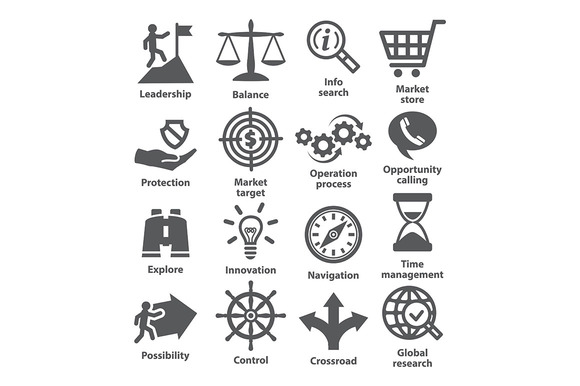 Business management icons. Pack 13. - Icons