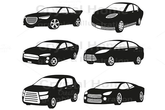 Original Silhouette Car Icon Set 1