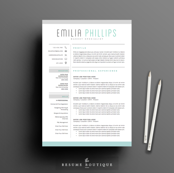 50 creative resume templates you won 39 t believe are microsoft word creative market blog
