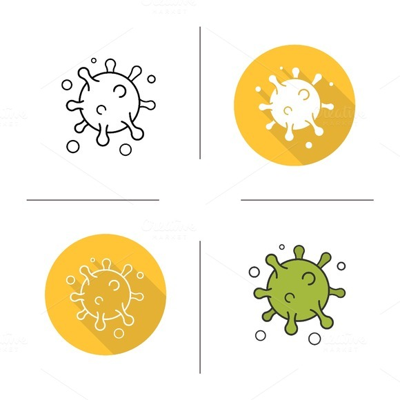 Virus icons .Vector - Icons