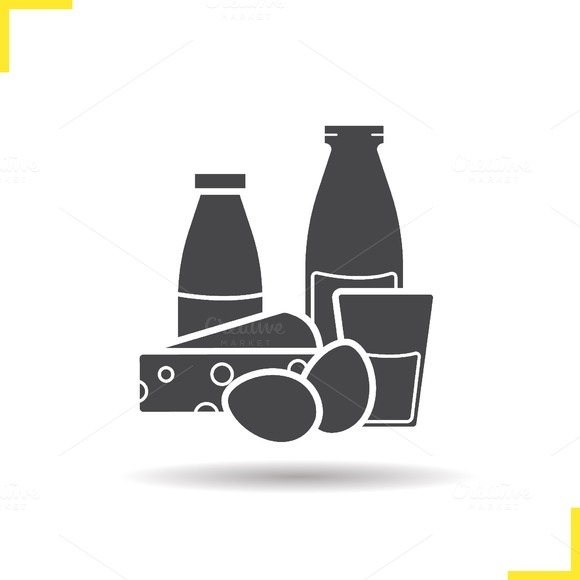 Dairy products icon. Vector - Icons