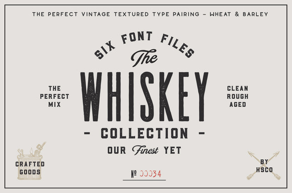 The Whiskey Font Collection - Display