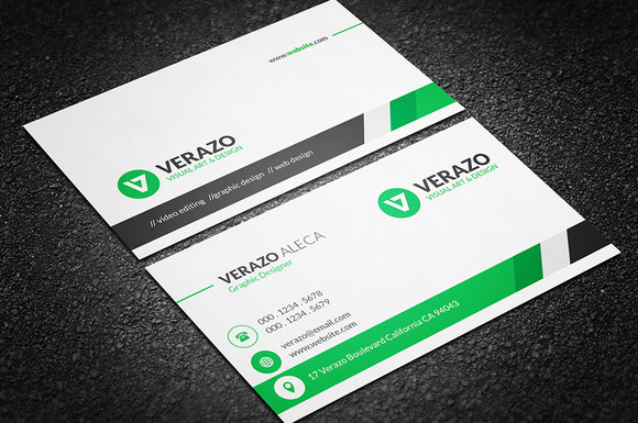 Clean Professional Business Card Business Card Templates
