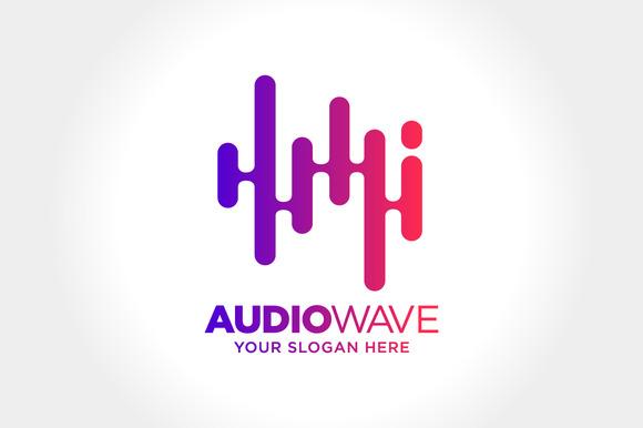 Abstract Audio Wave Illustration