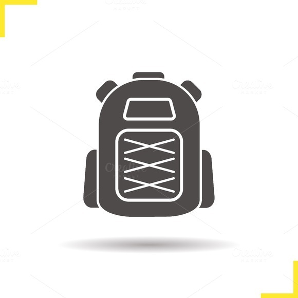 Backpack icon. Vector - Icons