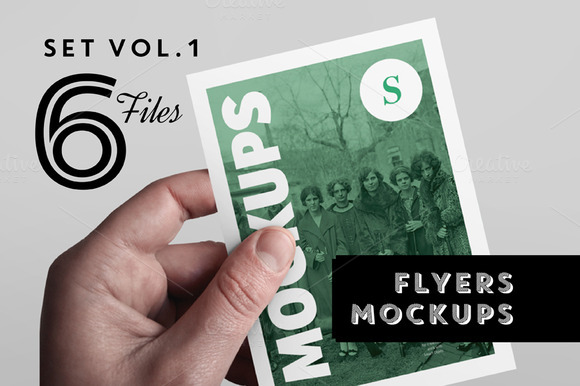Flyer Mockups Set - Vol. 1 - Product Mockups