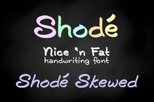 Shodé handwriting font