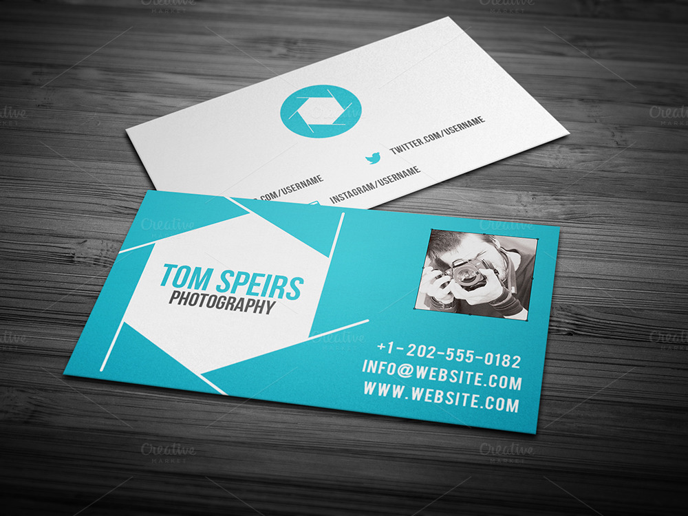 Photography business card 09 business card templates on for Best business cards for photographers