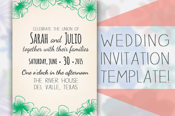 Formal Wedding Invitation Templates: Download Hoedown Invitation Template » Designtube